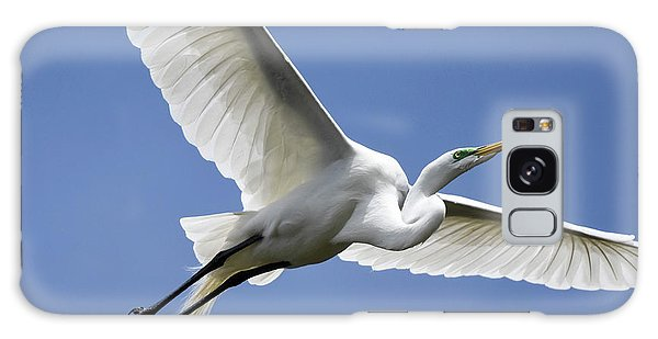 Great Egret Soaring Galaxy Case