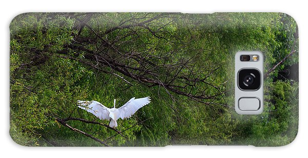 Great Egrets In The Shore Galaxy Case