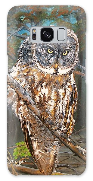 Great Grey Owl 2 Galaxy Case