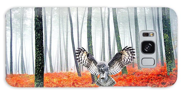 Owl Galaxy Case - Great Grey Owl by Laura D Young