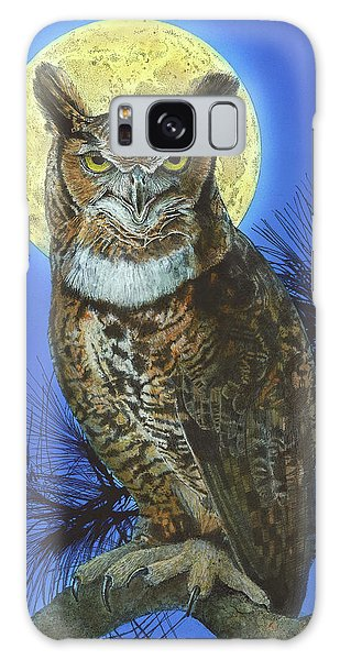 Great Horned Owl 2 Galaxy Case