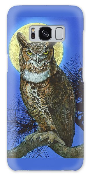 Galaxy Case featuring the painting Great Horned Owl 2 by John Dyess