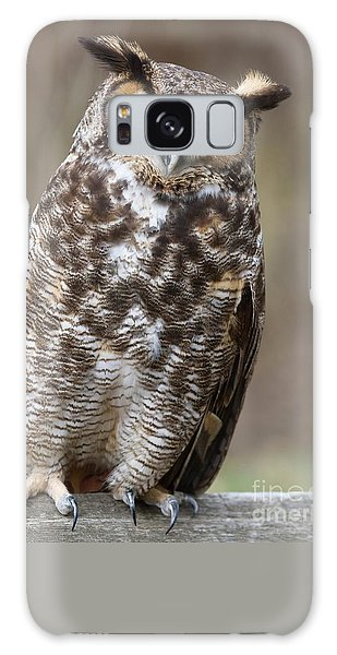Galaxy Case featuring the photograph Great Horned Owl 3 by Chris Scroggins