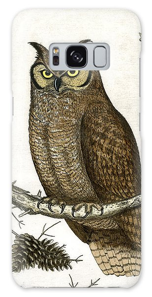 Great Horned Owl Galaxy Case