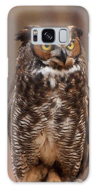 Great Horned Owl Digital Oil Galaxy Case by Chris Flees