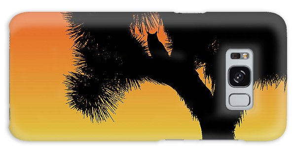 Great Horned Owl In A Joshua Tree Silhouette At Sunset Galaxy Case