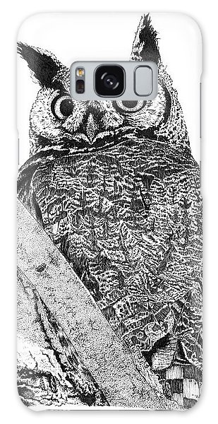 Great Horned Owl In A Tamarisk Galaxy Case