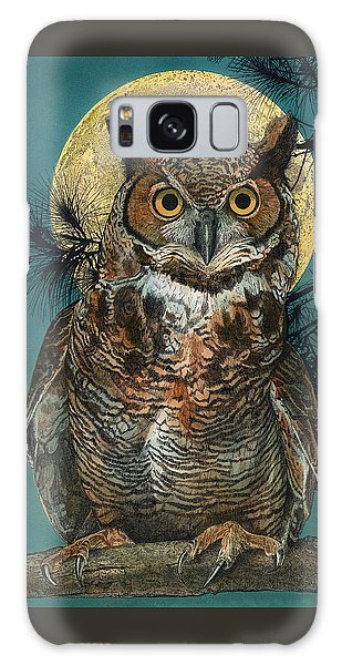 Galaxy Case featuring the painting Great Horned Owl by John Dyess