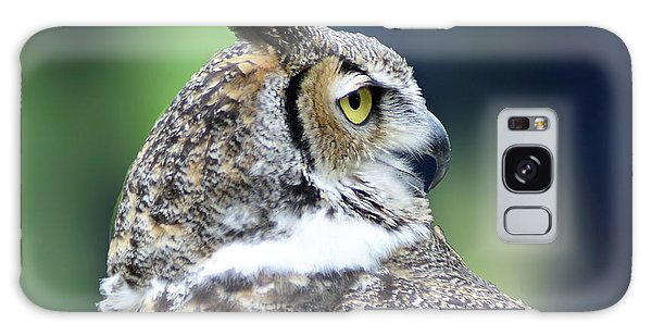 Great Horned Owl Profile Galaxy Case