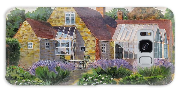 Galaxy Case featuring the painting Great Houghton Cottage by David Gilmore