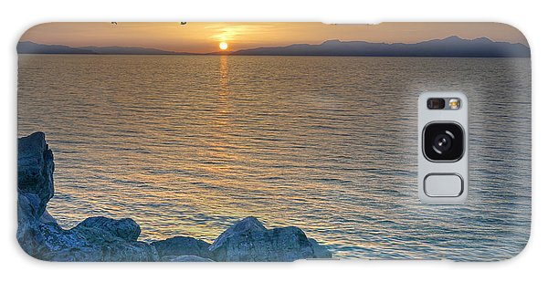 Great Salt Lake At Sunset Galaxy Case