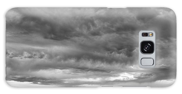 Great Salt Lake Clouds At Sunset - Black And White Galaxy Case
