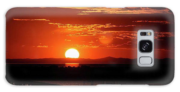 Great Salt Lake Sunset Galaxy Case