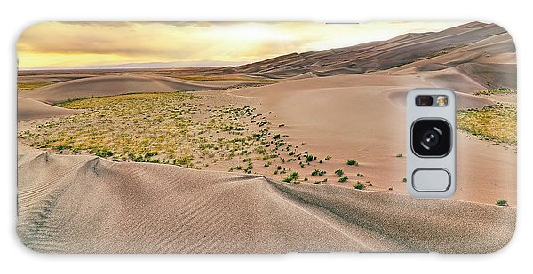 Galaxy Case featuring the photograph Great Sand Dunes Sunset - Colorado - Landscape by Jason Politte