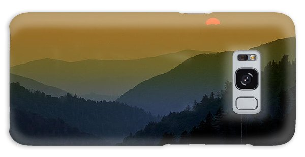 Great Smoky Mountain Sunset Galaxy Case