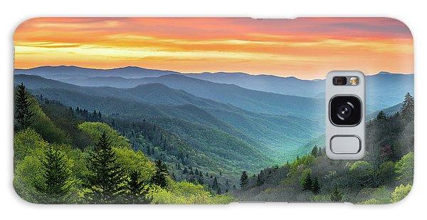 Great Smoky Mountains National Park Gatlinburg Tn Scenic Landscape Galaxy Case