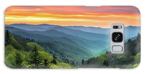 Great Smoky Mountains National Park Gatlinburg Tn Scenic Landscape Galaxy Case