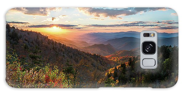 Great Smoky Mountains National Park Nc Scenic Autumn Sunset Landscape Galaxy Case