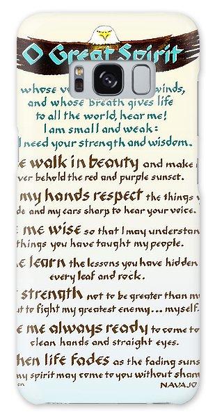 Great Spirit Prayer Galaxy Case