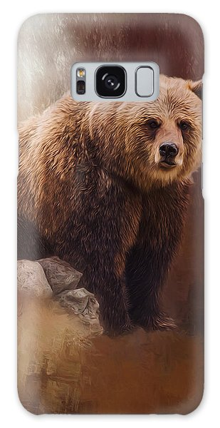 Great Strength - Grizzly Bear Art Galaxy Case