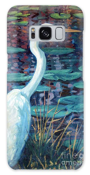 Great White Egret Galaxy Case