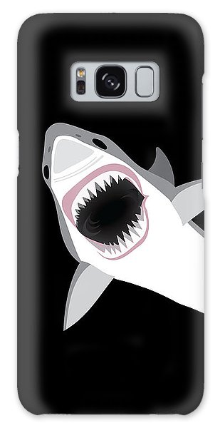 Sharks Galaxy Case - Great White Shark by Antique Images