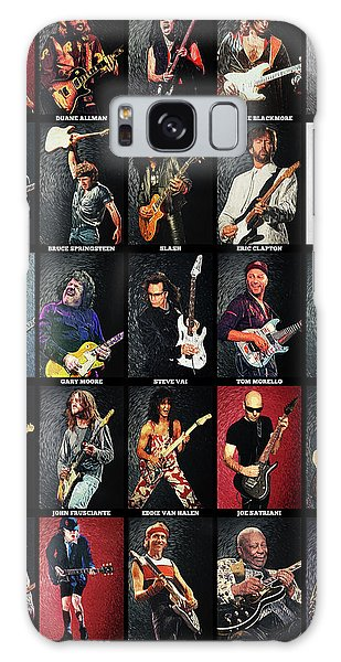 Eric Clapton Galaxy Case - Greatest Guitarists Of All Time by Taylan Apukovska