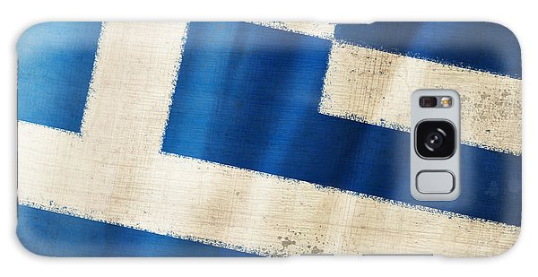 Greece Flag Galaxy Case by Setsiri Silapasuwanchai