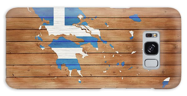 Traveler Galaxy Case - Greece Rustic Map On Wood by Dan Sproul