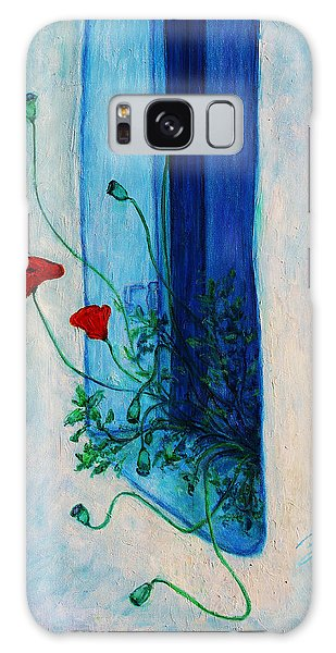 Galaxy Case featuring the painting Greek Poppies by Xueling Zou