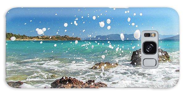 Greek Surf Spray Galaxy Case