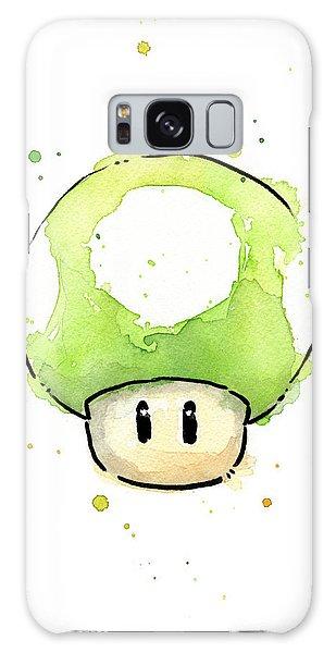 Green 1up Mushroom Galaxy Case