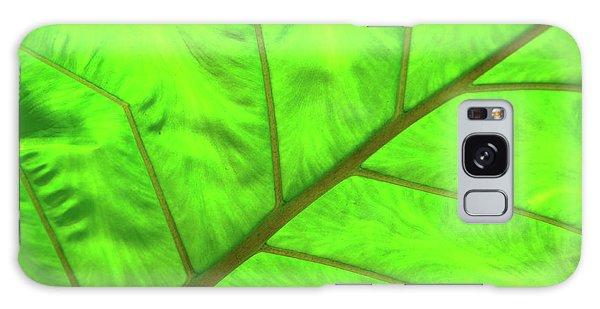 Green Abstract No. 5 Galaxy Case