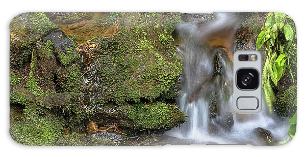 Galaxy Case featuring the photograph Green And Mossy Water Flow by James BO Insogna