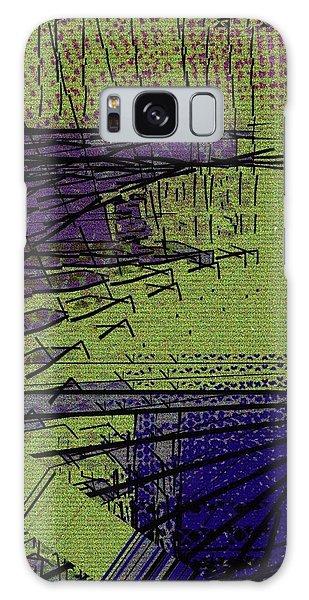 Green And Purple Field Galaxy Case