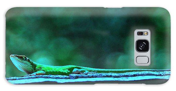 Green Anole Lizard Galaxy Case