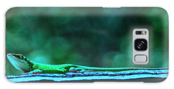 Green Anole Lizard Galaxy Case