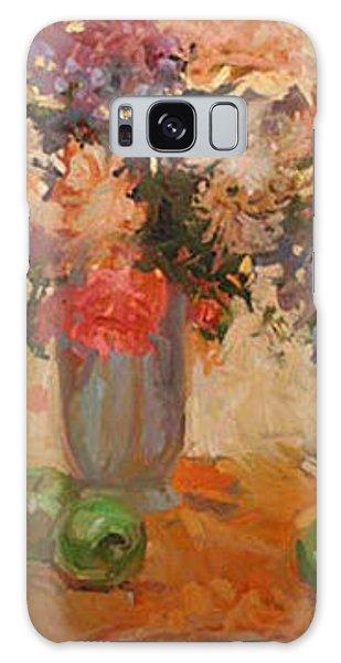 Betty Billups Galaxy Case - Green Apples  by Betty Jean Billups