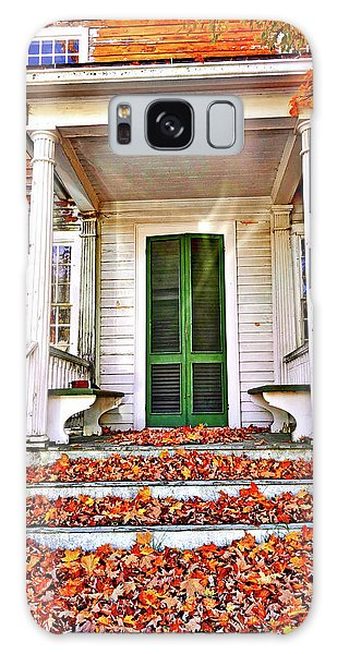 Green Autumn Door Galaxy Case