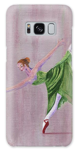 Galaxy Case featuring the painting Green Ballerina by Jamie Frier