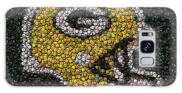Green Bay Packers Bottle Cap Mosaic Galaxy Case by Paul Van Scott