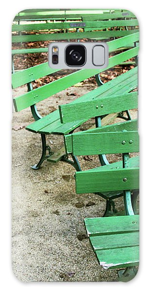 Green Benches- Fine Art Photo By Linda Woods Galaxy Case by Linda Woods