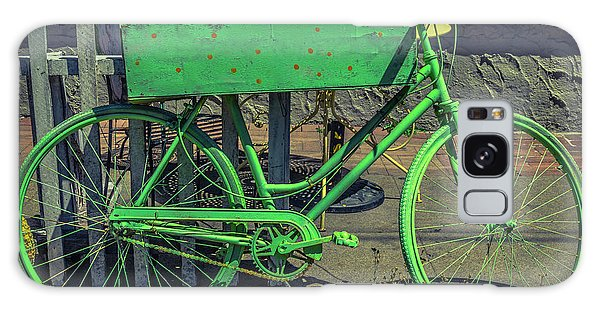 Rusty Chain Galaxy Case - Green Bike by Garry Gay