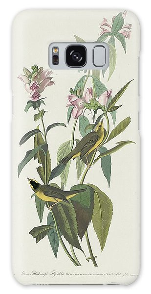 Flycatcher Galaxy Case - Green Black-capt Flycatcher by Dreyer Wildlife Print Collections