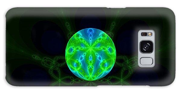 Green Blue World Fractal  Galaxy Case
