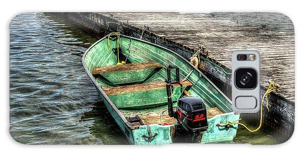 Green Boat Galaxy Case