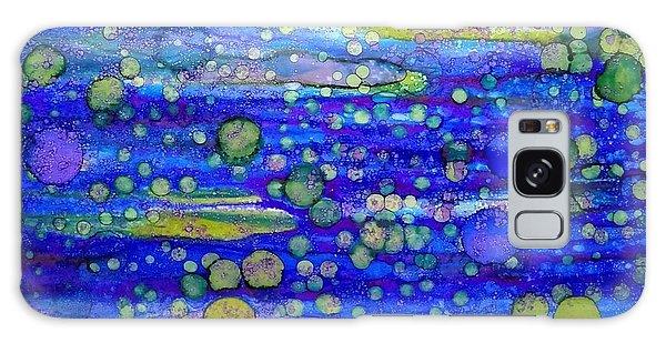 Green Bubbles In A Purple Sea Galaxy Case