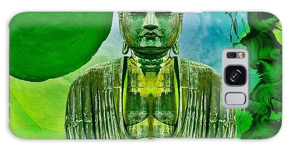 Green Buddha Galaxy Case