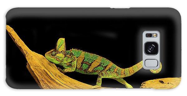 Green Chameleon Galaxy Case
