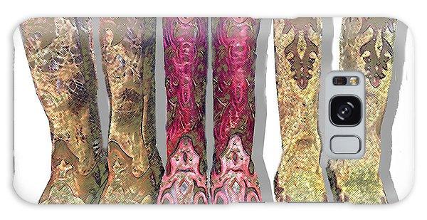 Green Cowboy Boots Galaxy Case